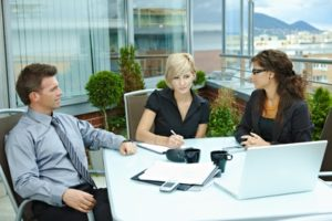 People in a mediation